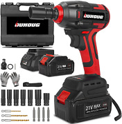 Cordless Impact Wrench, 1/2 Chuck Impact Driver/drill/screws With 3200rpm Variab