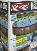 Coleman Deluxe18ft 18x48 Above Ground Swimming Pool Free Fast Shipping