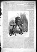 Old Antique Print 1867 James Taylor Newcastle-upon-tyne Swimmer Sport Man 19th