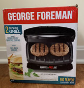 George Foreman 2 Serving Grill Gr1ob Removable Drip Tray