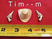 Custom Hat And 2 Pistols For The Hartland Roy Rogers Figure 800 Series No Hat Band