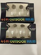 Lot Of Vintage C-9 1/4 Outdoor Christmas Light Replacement Bulbs Clear