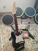 Xbox One Rock Band 4 Bundle Complete Guitar Microphone Drum Set Game Working