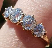 Antique Old European Cut Diamond Rrng Set In Yellow Gold. 1.40 Ctw. Gorgeous
