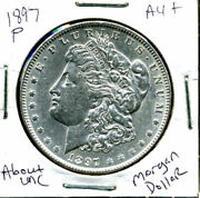1897 P Au Morgan Dollar 100 Cent About Uncirculated 90 Silver Us 1 Coin 1168