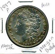 1897 P Au Morgan Dollar 100 Cent About Uncirculated 90 Silver Us 1 Coin 1463