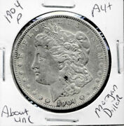 1904 P Au Morgan Dollar 100 Cent About Uncirculated 90 Silver Us 1 Coin 1321