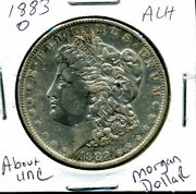 1883 O Au Morgan Dollar 100 Cent About Uncirculated 90 Silver Us 1 Coin 1216
