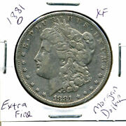1881 O Xf Morgan Dollar 100 Cent Extra Fine 90 Nice Old Silver Us1 Coin 3670