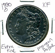 1880 O Xf Morgan Dollar 100 Cent Extra Fine 90 Nice Old Silver Us1 Coin 901