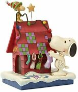 Enesco Peanuts Designs By Jim Shore Figure Snoopy And Woodstock -prepping F...