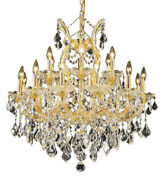 2800 Maria Theresa Collection Chandelier D30in H28in Lt19 Gold Finish Ele...