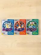 [3set] Pokemon Green Red Blue Nintendo Gameboy Japanese Version Boxed With