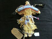 Native American Beaded Leather Doll Authentic South Dakota Doll Sd-082105725