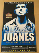 Juanes Promo Concert Gig Tour Poster 2003 New Mexico Mint Never Displayed
