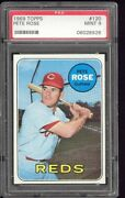 1969 Topps Pete Rose 120 Psa 9 Mint Centered Wow Extremely Tough