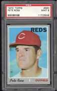 1970 Topps Pete Rose 580 Psa 9 Mint Centered Wow Extremely Tough