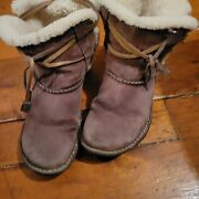 Uggs Size 8 Brown Lace Up Boho Style