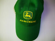 John Deere Fitted Hat Solid Green Nwo Tags