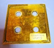 Salvaged Antique Brass Switch Plate Electricity Light Panel Button Wall Cover