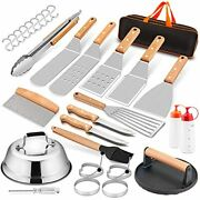 Griddle Accessories Set Of 20 Hasteel Complete Stainless Steel Griddle Spatula