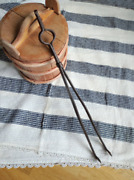 Primitive Fire Tongs Hand Hammered Tongs Farmhouse Decor Old Tool For Stove