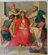 Painting Scene From The Bible With Jesus Crown Of Thorns Around 1800