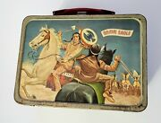 Vintage Brave Eagle Metal Lunch Box From 1957 American Thermos Bottle Co.