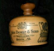 Antique 1894 Royal Doulton Dewars Scotch Whisky Jug To His Majesty The King