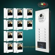 4.3 Tft Video Door Phone Intercom Kit With Mute Monitor For House/flat