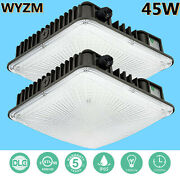 8pack Led Canopy Light 45w Super Bright Daylight 5500k For Gas Station Area Ip65