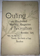 Outing An Illustrated Monthly Magazine Of Recreation November 1885