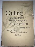 Outing An Illustrated Monthly Magazine Of Recreation January 1886