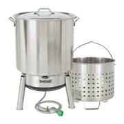 Bayou Classic 82 Qt. Stainless Steel Steam And Boil Cooker Kit