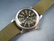 Vintage Waltham A-17 Hack Us Military Pilots Mens Watch Stainless 196military