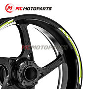 17and039and039 Check Wheel Stickers For Kawasaki Z900rs Kle650 Concours 14 Z650 Z1000