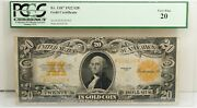 1922 Very Fine 20 Gold Certificate 20 Us Mint Free Ship Pcgs Fr 1187