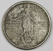 1917-d Standing Liberty Quarter. Type 1. Natural Uncleaned. Unc. 162883