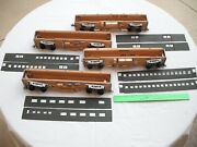 Lot Of 4 Walthers Wood Metal Undecorated Coach Passenger Cars, O Scale - As Is