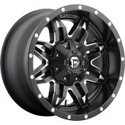 4- 18x9 Black Fuel Lethal D567 6x135 And 6x5.5 -12 Wheels Pro At 285/65r18 Tires