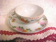 Vintage Victoria Bone China Tea Cup And Saucer Gold Trim Pink Floral
