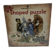 The Wizard Of Oz 500pc Shaped Puzzle Lion Tin Man Scarecrow Paper House - Sealed