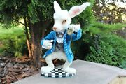 White Rabbit With Watches Collectible Toy Character From Alice In Wonderland