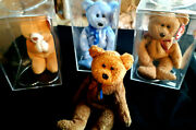 4 Ty Beanie Babies Rare Retired Hope And Curly Both Errors 1st Edition