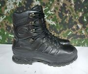 Meindl German Army Military Sf Issue Black Leather Gore-tex Combat Boots - 10.5