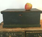 Early American Antique Document Box, Original Green Paint