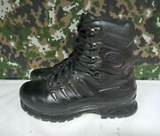 Meindl German Army Military Sf Issue Black Leather Gore-tex Combat Boots - 8.5