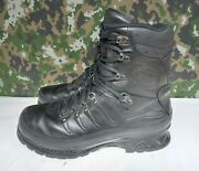 Meindl German Army Military Sf Issue Black Leather Gore-tex Combat Boots - 9.5