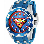 Menand039s 50mm Dc Comics Scuba Superman Limited Edition Blue/red Ss Watch