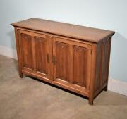 Vintage French Gothic Revival Sideboard/cabinet/console In Oak